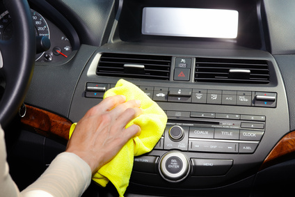 wipe and polish car interior