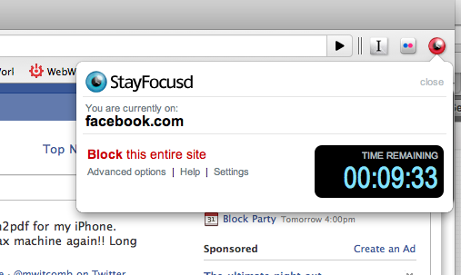 StayFocusd Browser Extension