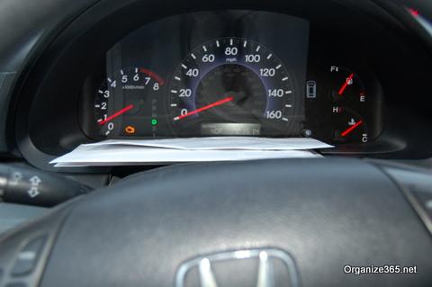 car dashboard for storage