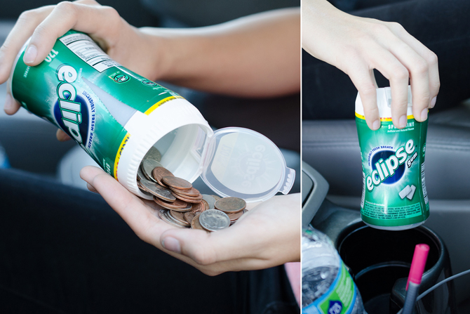 Gum Container for Coins