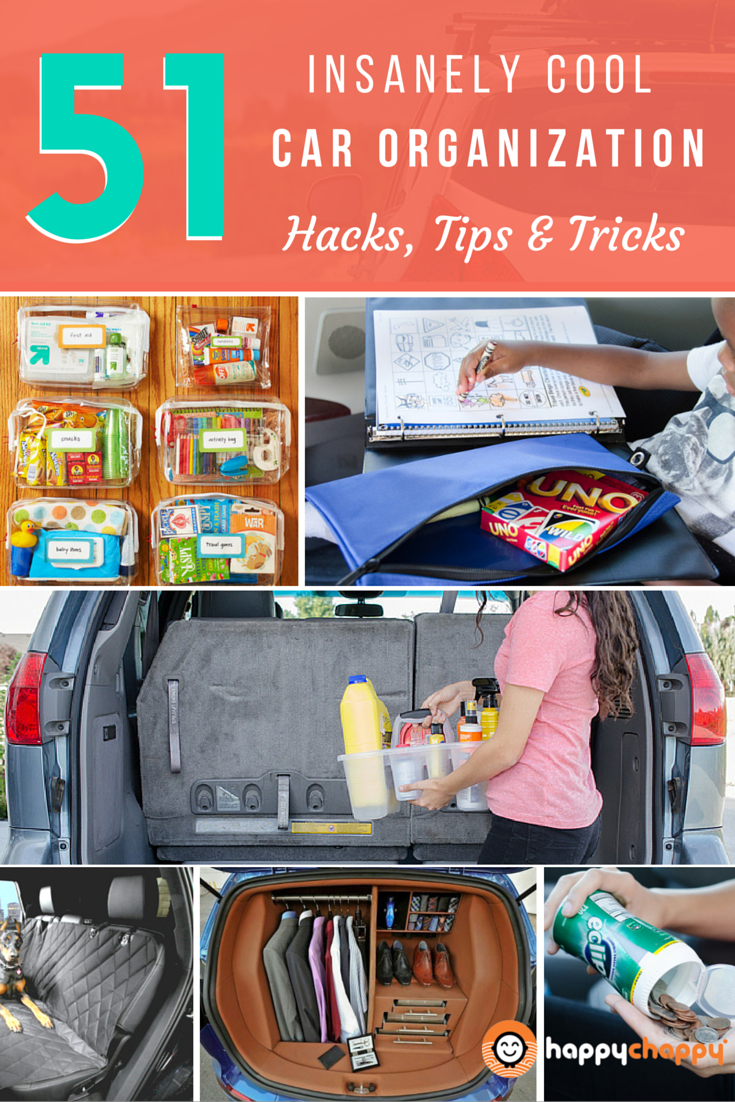 Diy car organizer hacks