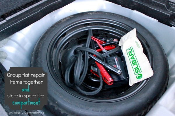 Use car tire for organization