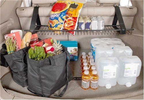 51 amazing car organization hacks tips tricks to use today 2018 car cargo trunk shelf solutioingenieria Choice Image
