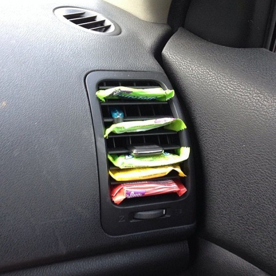 Keep candy from melting in car